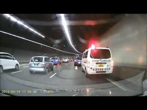 FAIL - Driver Refuses To Let Ambulance Pass