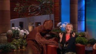 Ellen Scares Jane Lynch