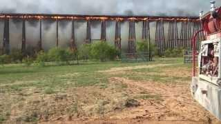 Bridge On Fire Falls Like Dominos