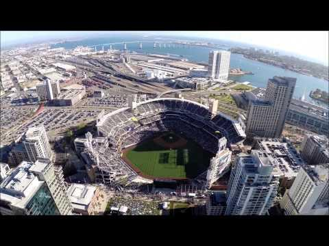 Navy Parachute Team Parachuting Into San Diego MLB Stadium