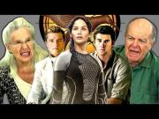 Funny Grandparents Reaction To Hunger Games Catching Fire Movie Trailer