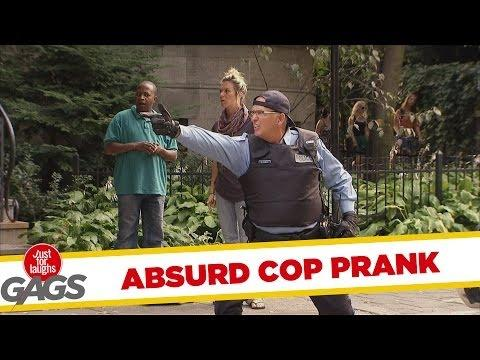 Cop Fires His Finger Gun Prank
