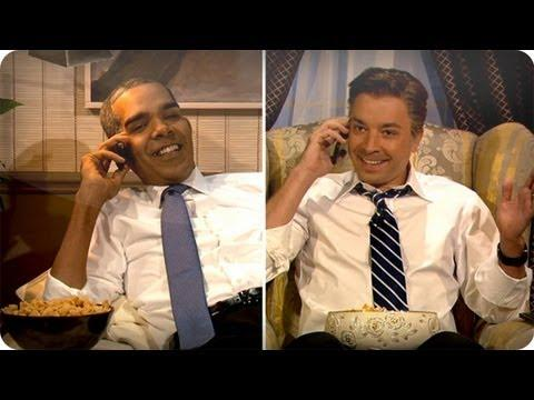 Jimmy Fallon - Barack Obama And Mitt Romney Watch The VP Debate