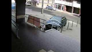 Security Guard Chases The Robber In Hungary