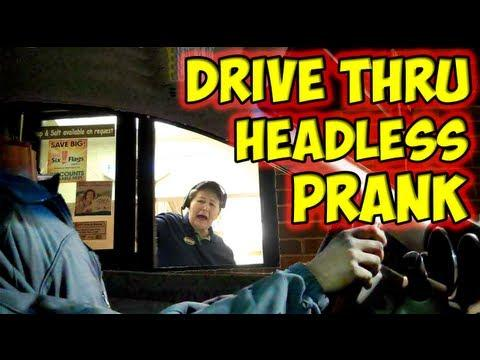 Pranks - Headless Driver At The Drive Thru Prank