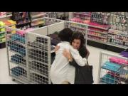 Amy Talks To Strangers Using All By Myself Song Lyrics At Michaels Store