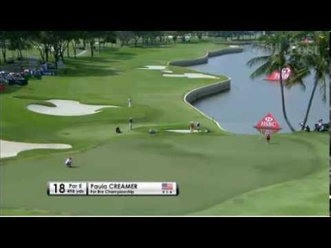 Paula Creamer's Reaction After Winning HSBS Womens Championship