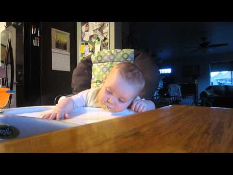 Baby Falls Asleep While Eating Oatmeal