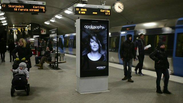 Smart Ad For Hair Products At The Stockholm Subway
