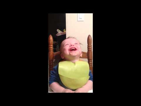 Cute - Baby Laughs When Daddy Gets Poked