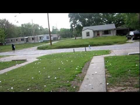 Crazy - Guy Goes For A Walk During Hail Storm