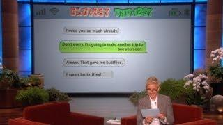 Ellen - I Am Getting A Manhole Shake Autocorrect FAIL