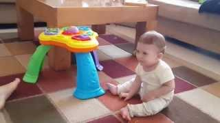 Toys Juggling Dad Makes Baby Boy Laugh
