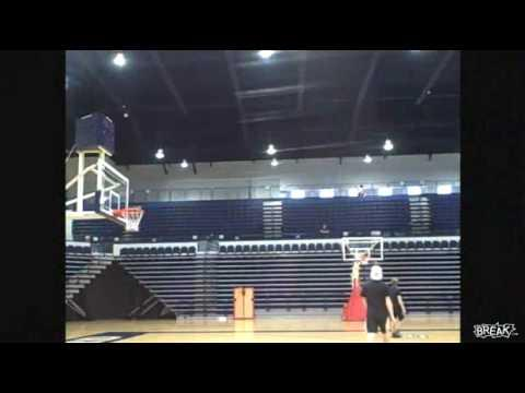 Amazing - Basketball Trick Shot From Behind The Bleachers