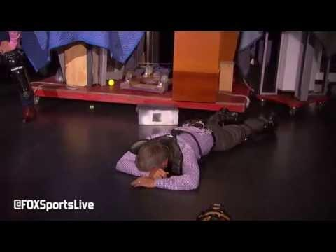 Tennis Player Andy Roddick Hits Jay And Dan With Tennis Balls