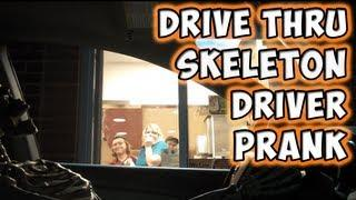 Skeleton Wants To Order Some Food At Drive Thru Prank