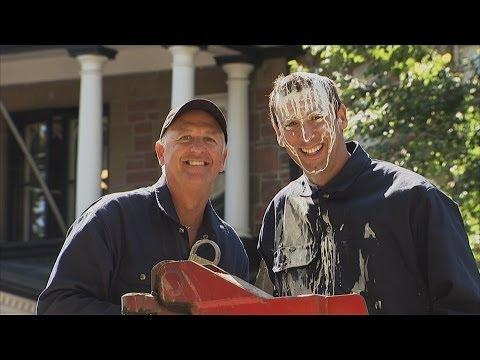 People Knock Over Paint Bucket On The Guy Prank