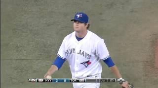 Amazing Catch By Blue Jays Pitcher