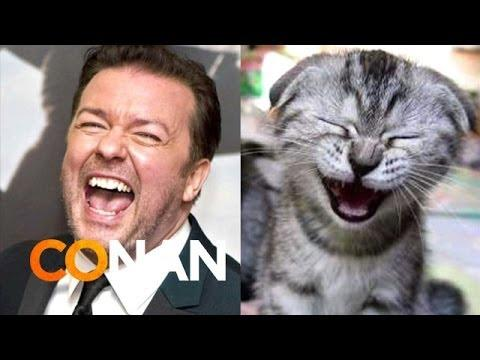 Conan Compares Ricky Gervais With Cats