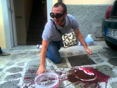 Nasty - Guy Drops Cake And Tries To Eat It